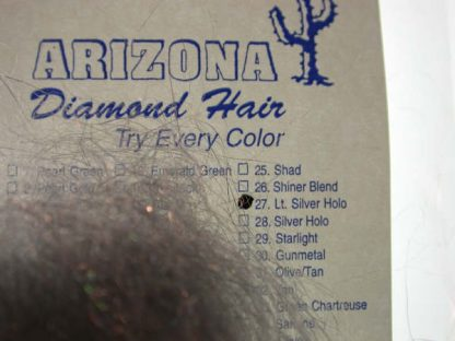 Image of Arizona Diamond Hair - Light Silver Holo