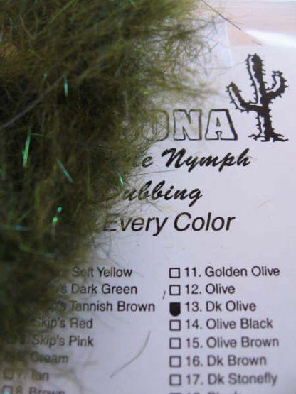 Image of AZ Sparkle Nymph Dubbing Dk Olive