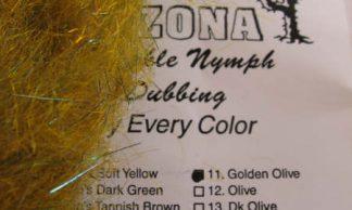 Image of AZ Sparkle Nymph Dubbing Golden Olive
