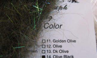 Image of AZ Sparkle Nymph Dubbing Olive Black