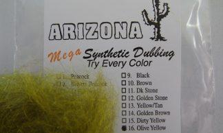 Image of AZ Mega Synthetic Dubbing Olive Yellow