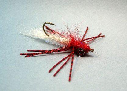 Image of Rubber Leg Bass Leech Red/White